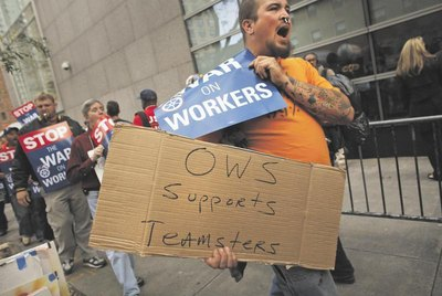 OWS supports teamsters
